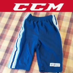 4/$15 size 3/6 m CCM striped lined athletic pants